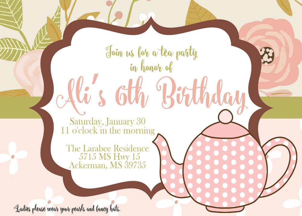 Birthday Invitations — Two Hoots Designz