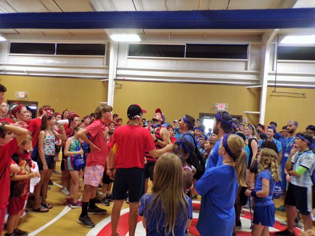 I got to be the red team captain in Color Wars at Camp Oasis!