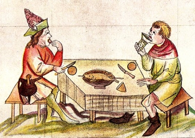 the medieval supper was no more than a snack