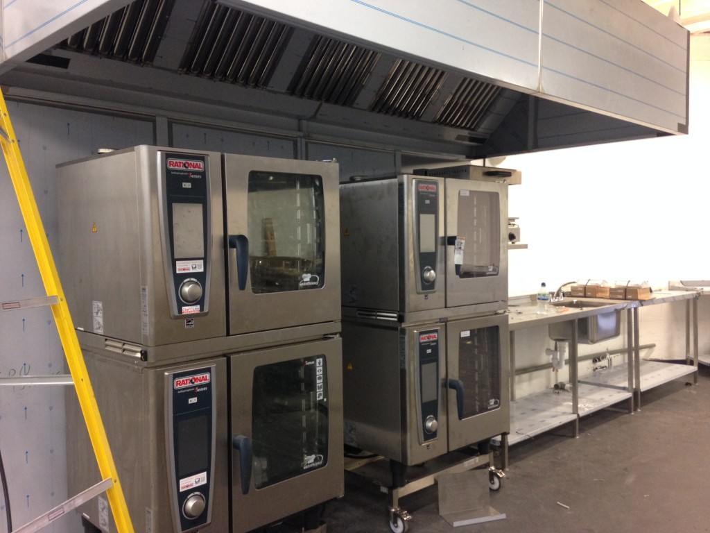 new ovens at the just hospitality angel kitchen