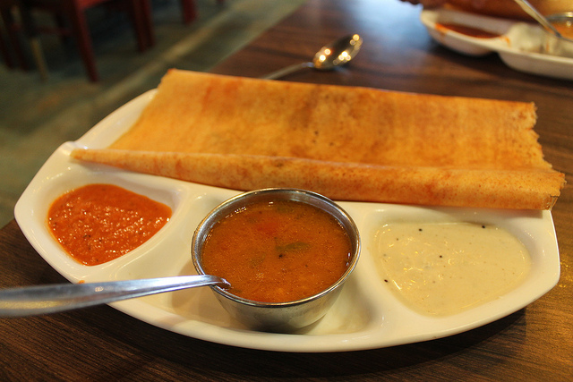 Dosa is a gluten free indian bread