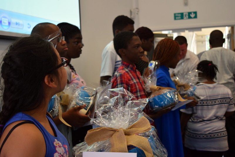 Highshore students receive gifts from Just Hospitality