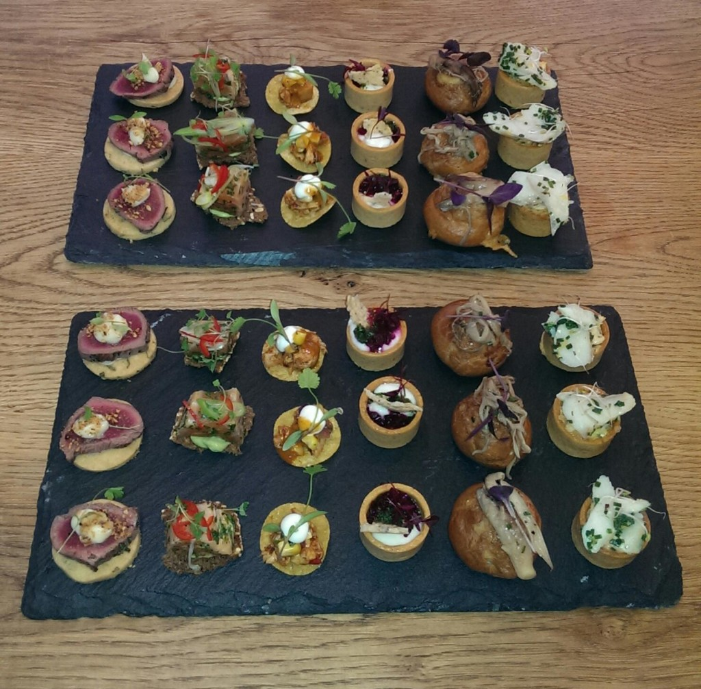canapes for a function at teads