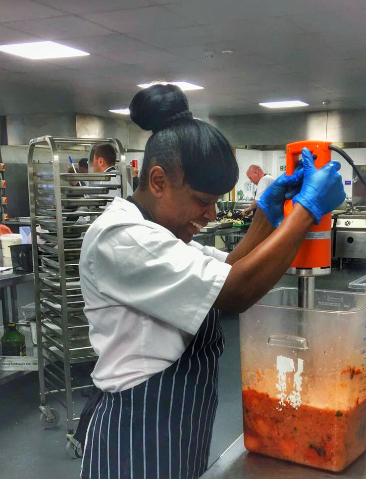 Celena, the new apprentice at Just Hospitality