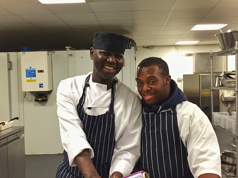 Highshore work experience students at Just Hospitality
