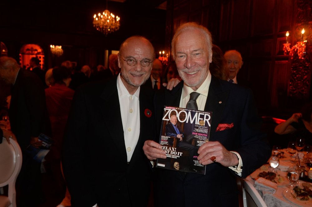 Moses Znaimer, Zoomer Magazine, and Christopher Plummer.JPG