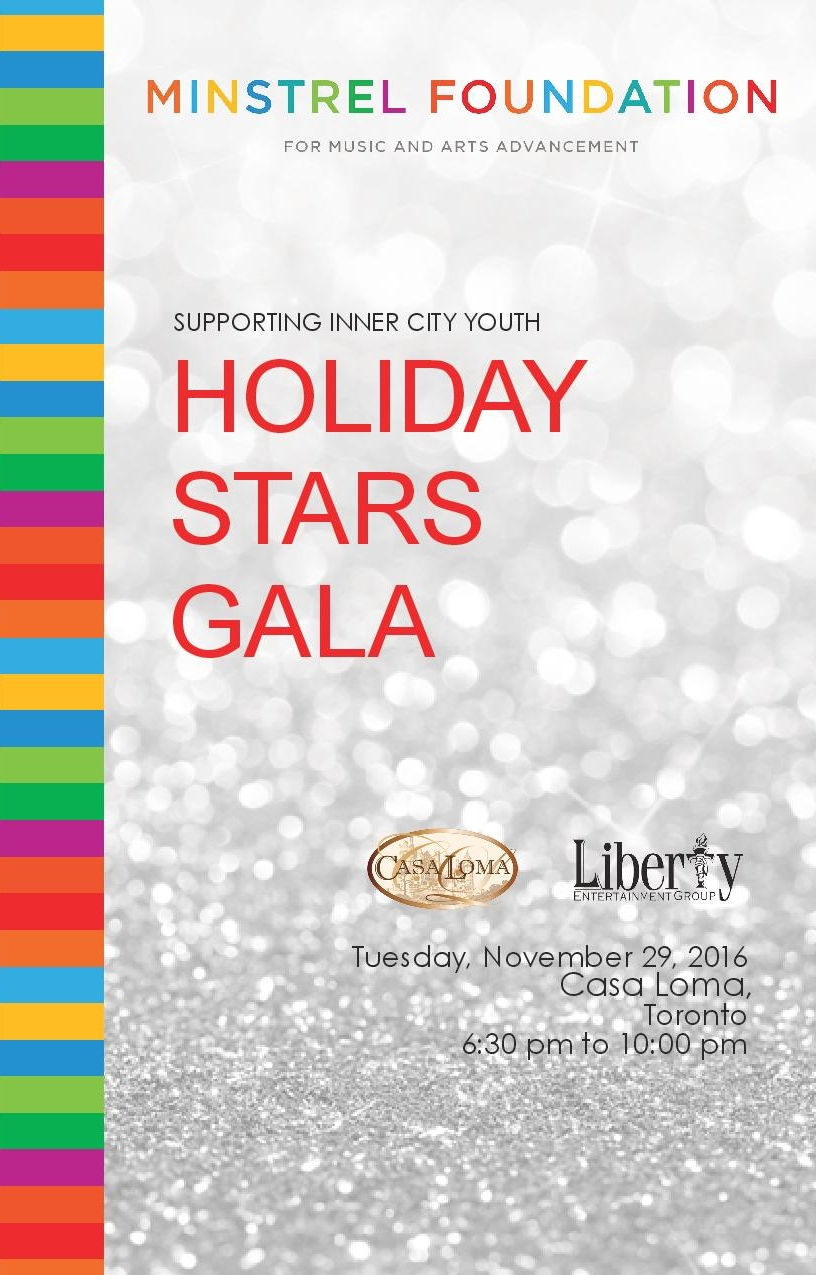 """Holiday Stars Gala,"" Casa Loma Holiday Launch Event 2017 (14 pages)"