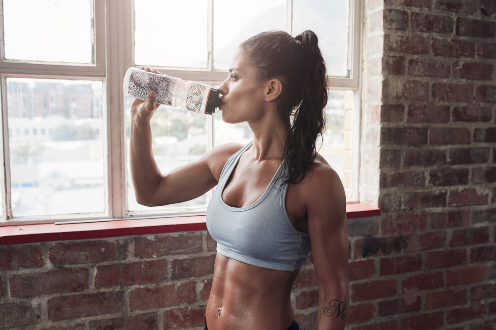 2. count the ounces - HYDRATION - Rule of thumb is you drink in ounces half of your body weight, but more if you are active. Let our experts guide you.