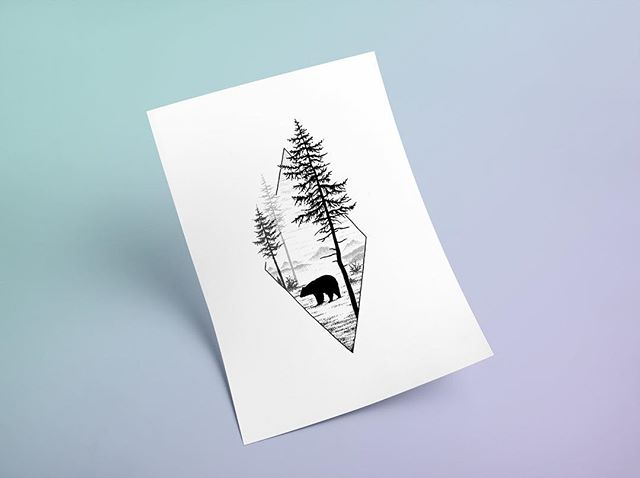 CANADA 🇨🇦 This drawing feels like an old friend these days. It instantly transports me to time spent in BC with my big bro, riding bikes whilst bears stroll across the trails. I cannot wait for my next visit @vertigotree 🌲 ・ ✦ ☾ ✦ ・ #canada #britishcolumbia #artprint #drawing #blackbear #bear #canadianwildlife #drawing #illustration #tattoo #blackwork #linework #dotwork #nature #geometric #minimal #design #graphicdesign #art #artist #pen #sketch #tattooflash #blackworktattoo #mountainlife #artwork #illustrator #designer #mountains #snowboarding