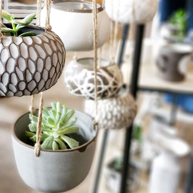 Succulents are like my pets. When those new leaves start popping out and grow, it gives me such a joy. I love them so much!!! I'll be bringing some to @renegadecraft this weekend @brooklynexpocenter. Come on by and get some planters of your own! . . . . . . . ——————————————————— #mudtolife #mtl #handmadeceramics #handmade #madeinusa #madeinny #buysmall #simpleliving #makermovement #buylocal #contemporaryceramics #contemporarycraft  #minimalism #ilovepottery #clay #pottery #slowliving #shoplocal #hangingplanter #hangingplanters #interiordecorating #indoorplantsdecor ———————————————————