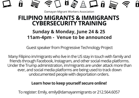 Filipino Migrants and Immigrants Cyber Security Training