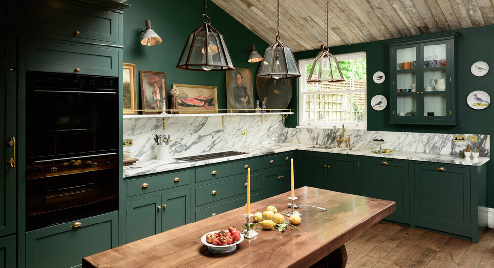 DeVoL Kitchen painted Studio Green by Farrow and Ball