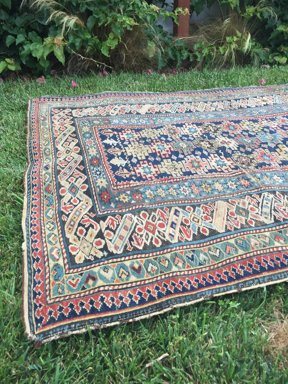 Antique Chi Chi Kuba Rug - from what is modern day Russia