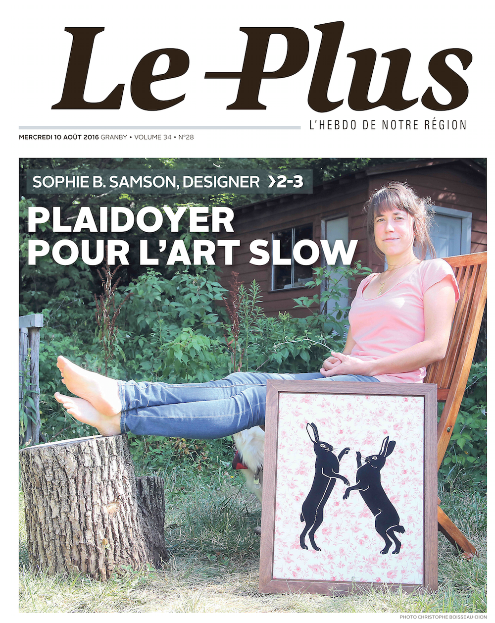 Couverture du journal de Granby Le Plus.