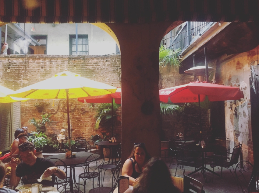 Patio seating at Napoleon House