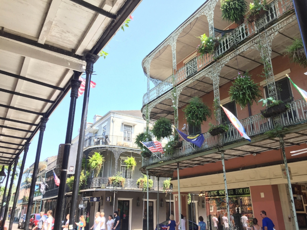 Charming architecture in the French Quarter