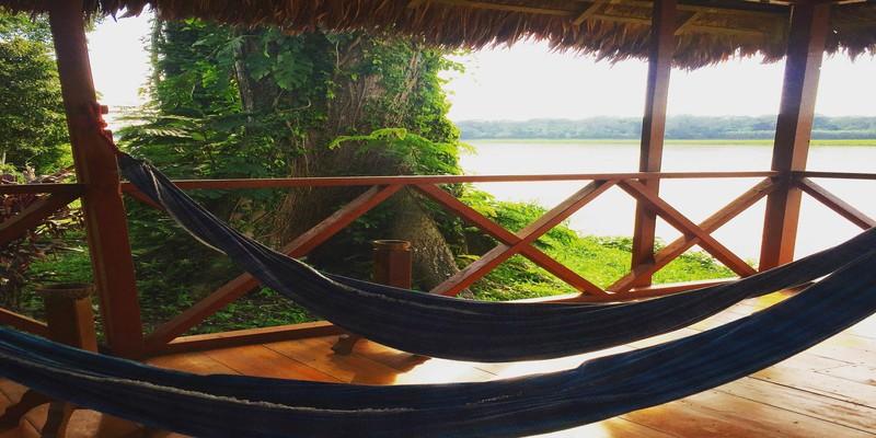 Hammocks overlooking the Amazon River