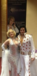 Elvis and Marilyn Monroe impersonators at conference