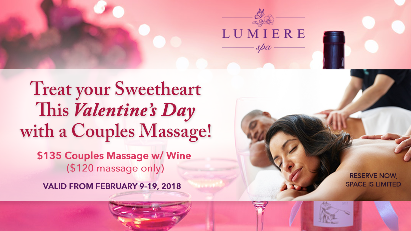 Valentine S Day Romantic Couples Massage At Lumiere Spa Nyc