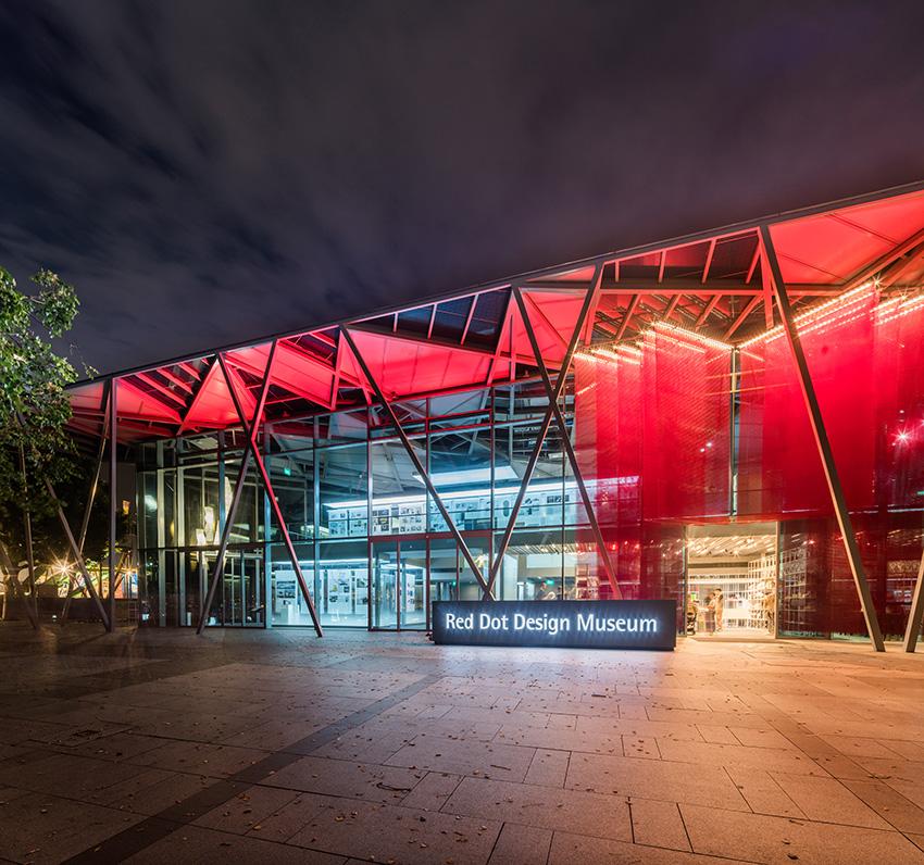 红点设计博物馆位于新加坡滨海湾 -