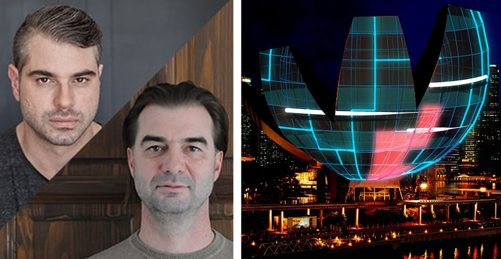 Projection of Cities - Talk by Limelight - The Artists are in!    (Presenting artists at i Light Marina Bay 2018)    Istvan David and Viktor Vicsek from an award-winning projection artist collective Limelight shared their insight on how the city; its landscape, culture, ambience and people influences their work and their work, in turn, could influence the city. The artists shared their visions and processes in relation to various cities they have presented.