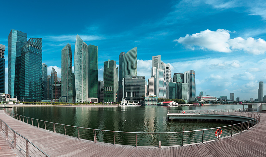 2: Prominent Architectsat the Marina Bay - Architectural details in the city scape