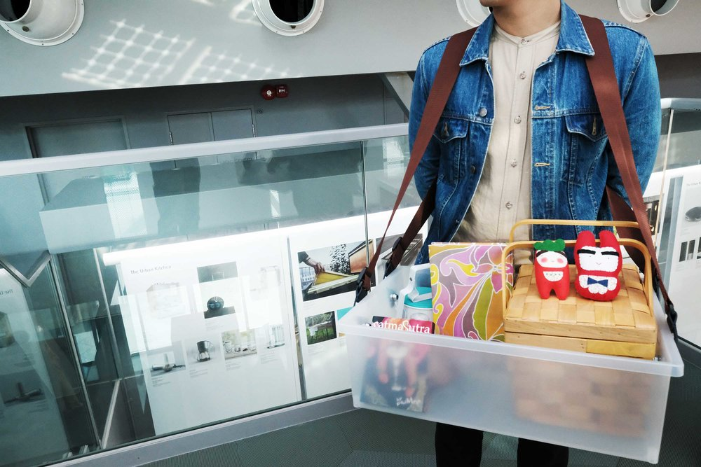 Double strapped case allows MAADsters to bring conversations to visitors comfortably