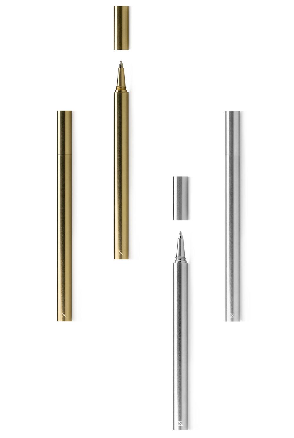 策展人:这款钢笔的选材考究,制作工艺精湛,绝对会让你爱不释手。 - 钢笔和笔帽由单根实心黄铜或铝材精密加工而成。