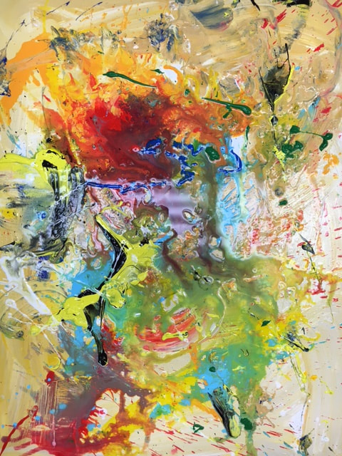 RON ROLLINS - ACTION, ABSTRACT AND GESTURAL PAINTING.