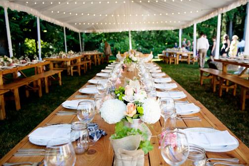 backyard chic wedding