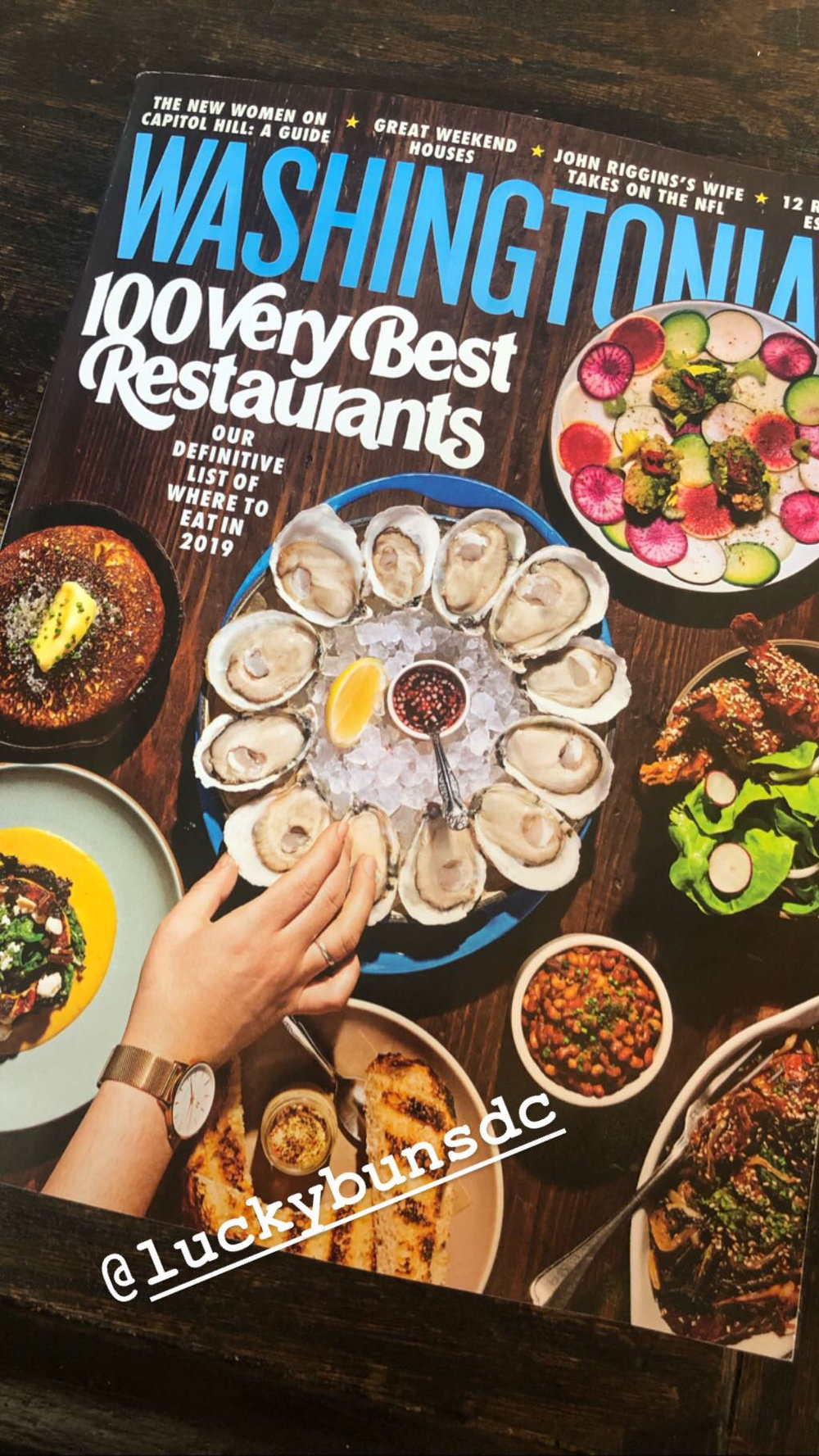 "WASHINGTONIAN MAGAZINE ""100 VERY BEST RESTAURANTS 2019"" - ""Best burger in DC"" is a contentious title, but let's agree for now: Alex McCoy's Adams Morgan patty place reigns supreme. There are a few cheffy touches—locally baked sesame-brioche buns, Creekstone Farm beef griddled with tallow for diner-style crunch—but that's where fussiness ends. The mood is chill, the tallboys are cold, the music (and patrons) are loud. It's all best soaked up with curry chips and a burger dripping with chili-aïoli and melty Gouda (or, if you prefer, bang-up fried-chicken sandwiches)."