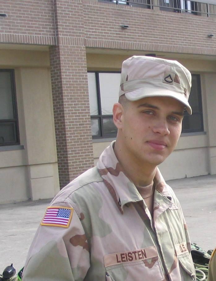 Army PFC Ken Leisten