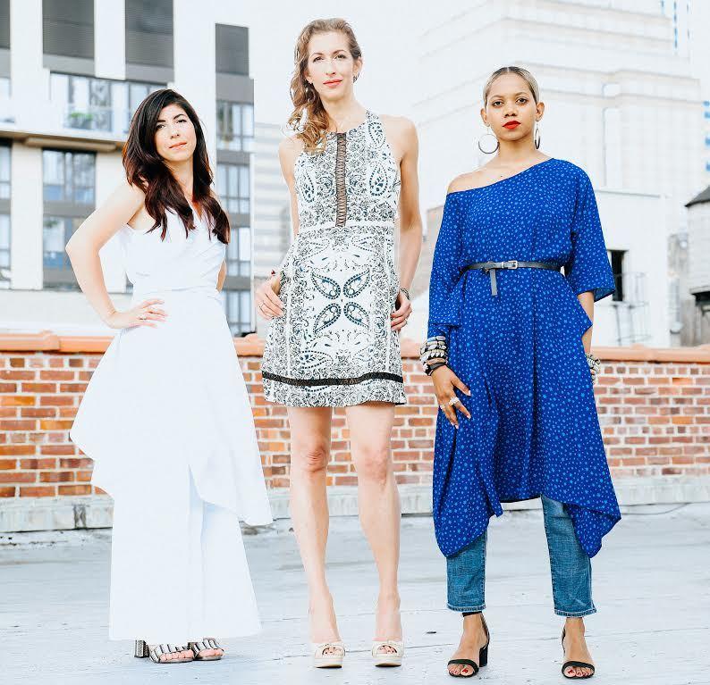 The women of Livari:Claudine DeSola, Alysia Reiner, and Tabitha St. Bernard-Jacobs