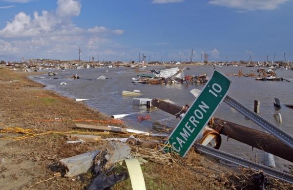 Aftermath of Hurricane Rita, Cameron Parish. Photo by Win Henderson via  FEMA Photo Library .