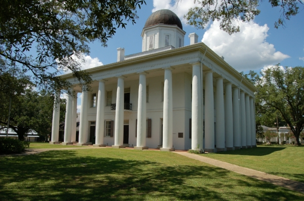 East Feliciana Parish Courthouse. Photo by Galen Parks Smith via  Wikimedia Commons .
