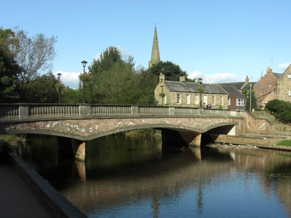 Oldgate Bridge, Morpeth. Photo by Anthony Foster via  Wikimedia Commons .