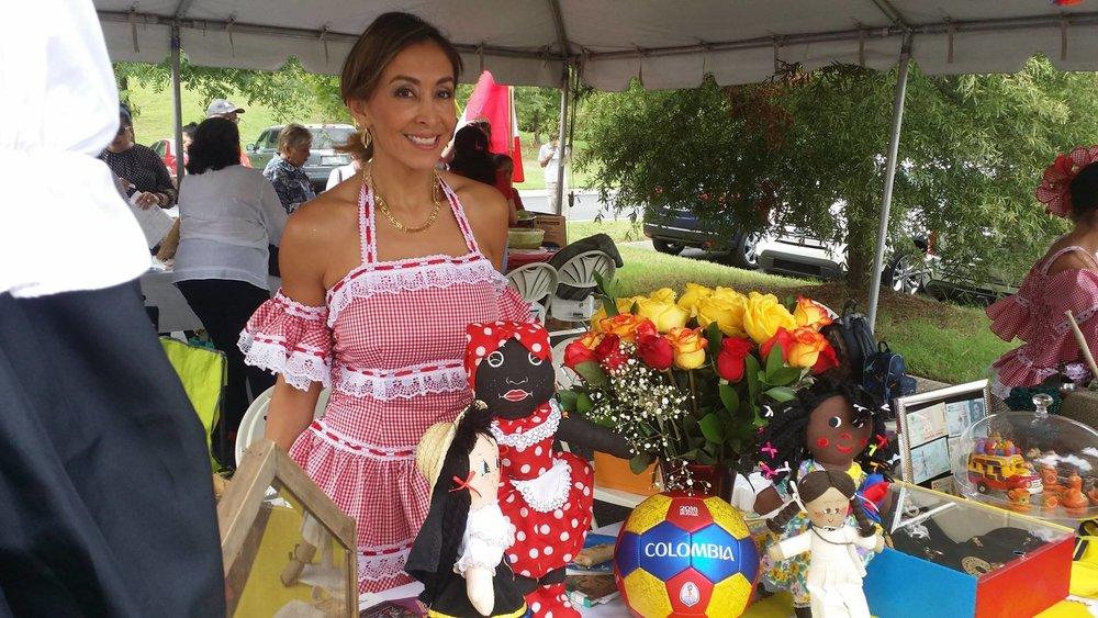 Carolina Garcia, SHS Spanish teacher represented Colombia.