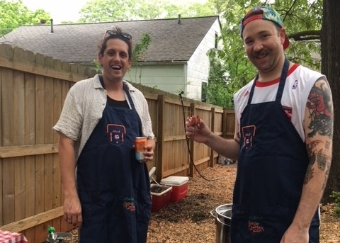 Chris and Will in their aprons.jpg