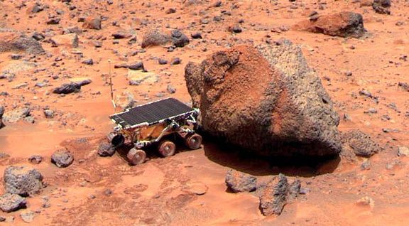 Sojourner, the first Mars rover.