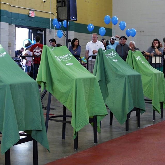 It's 177 days until we roll out the green capes for our amazing shavees! These awesome volunteers  solicit donations from family and friends, helping to raise awareness of the importance of childhood cancer research. Interested? Get in touch and we'll get you started! #livebaldhsv #stbaldricks #pediatriccancerawareness #conqueringchildhoodcancer #childrenscancerresearch