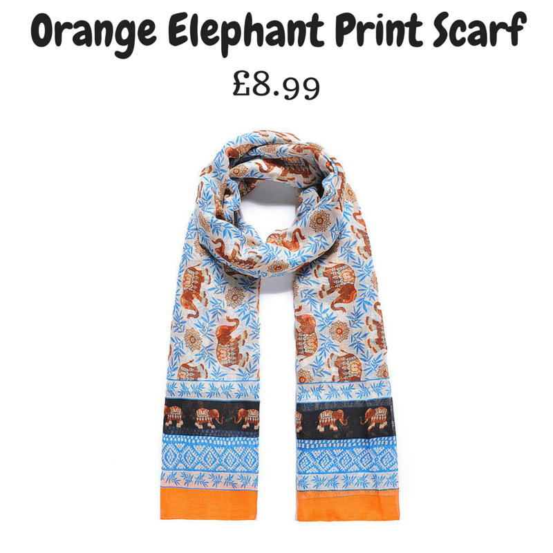 Orange Elephant Print Scarf.png