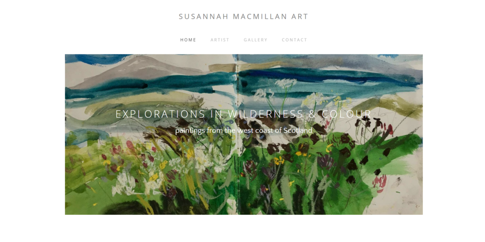 SUSANNAH MACMILLAN ART - Simple & reflective web site design with no monthly fees.