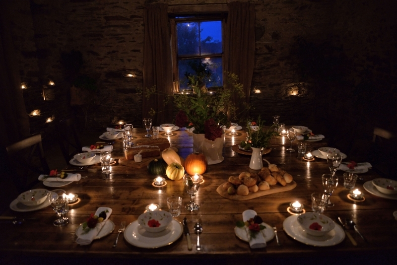 atmospheric styling with candles