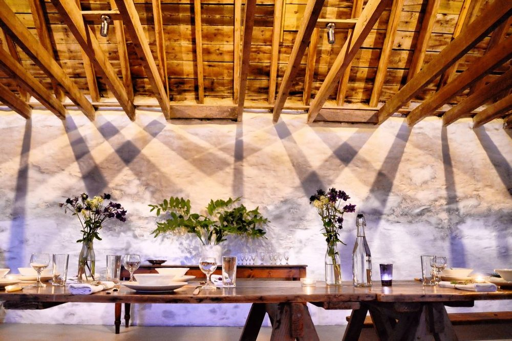 event styling in country farmhouse