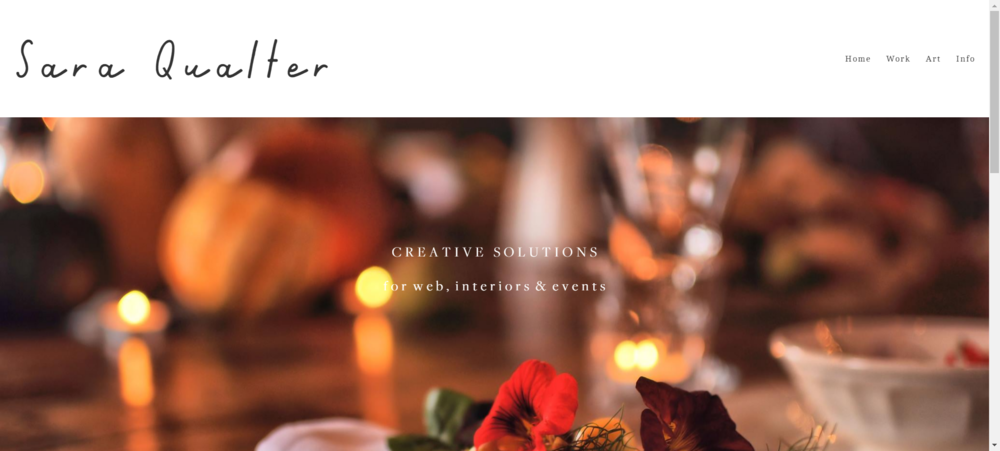 Sara Qualter - Photo shoot & event styling. Web design. Social media