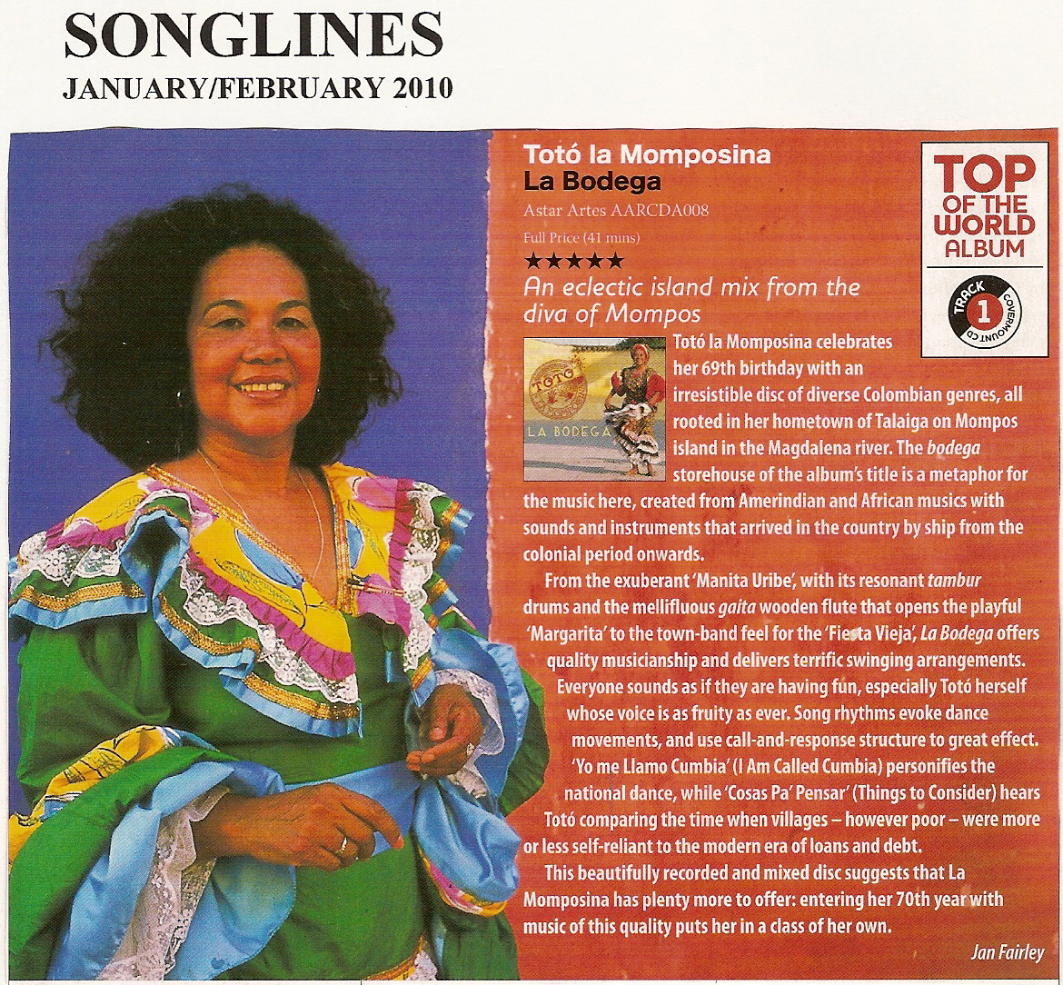 TOTO SONGLINES TOP OF THE WORLD REVIEW