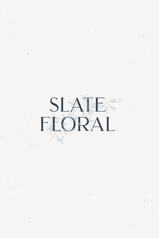 Slate Floral
