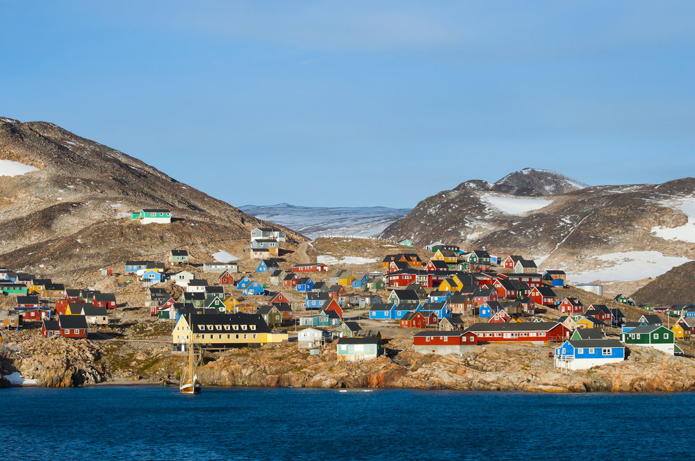 The Ittoqqortoormiit township, about 90 km south of the Frontier Project's border.