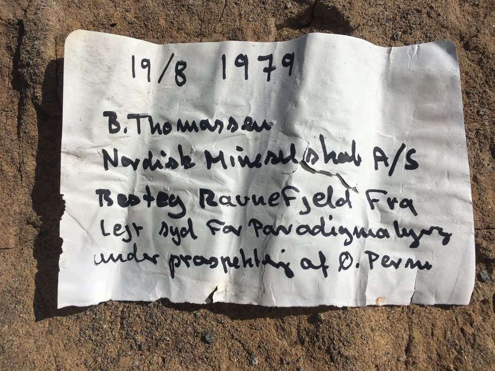 Serendipity. We stumbled across this note on top of a mountain on EXACTLY the same date, 29 years later.
