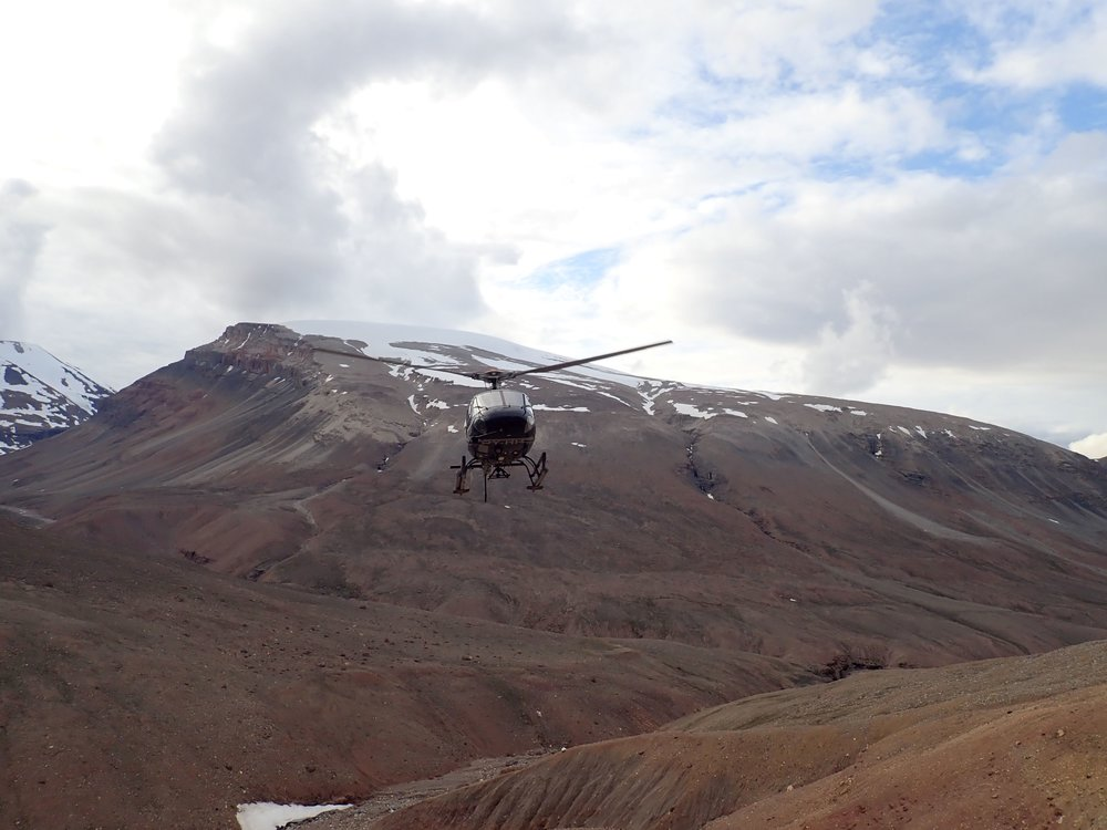 Ho hum, just another air taxi pick up from our North Margeries Dal tungsten prospect.